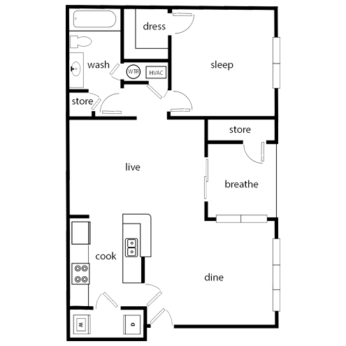 1 Bedroom apartment in Oakwood, GA