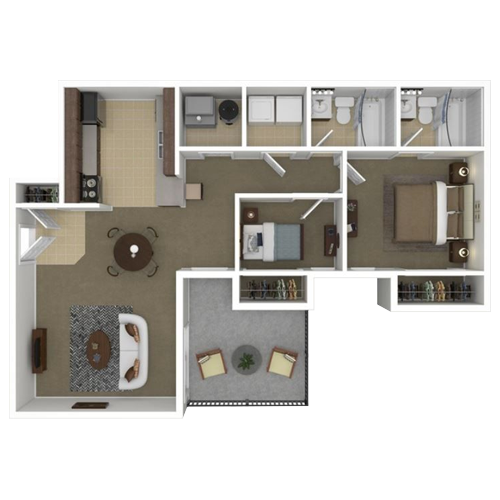 Two Bedroom apartment for rent in Lexington, KY | 900 Sq. Ft.