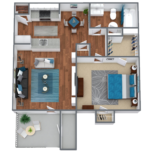 One Bedroom Apartment in Houston, TX   A1