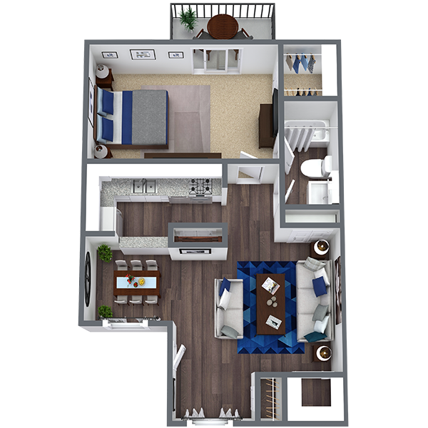 1 bedroom apartment in Irving | 710 Sq. Ft.
