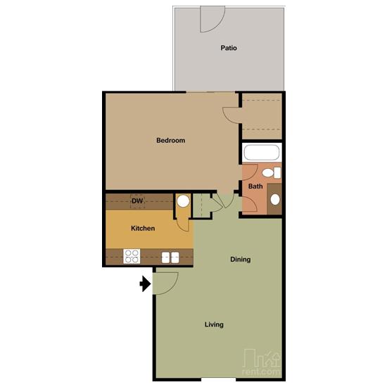 1 Bedroom apartment for rent in Bedford, TX | 750 sqft