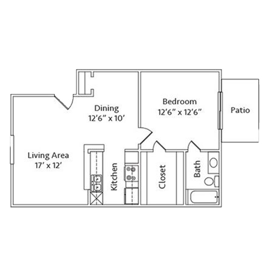 1 Bedroom Apartment in North Richland Hills | 715 SqFt
