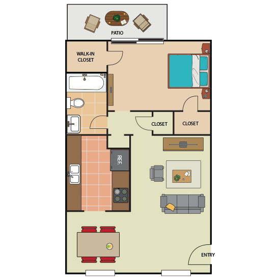 1 Bedroom Apartment in Southwest Forth Worth | 715 sqft