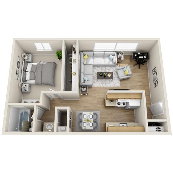 1 Bedroom apartment for rent in Amarillo, TX   750 sqft