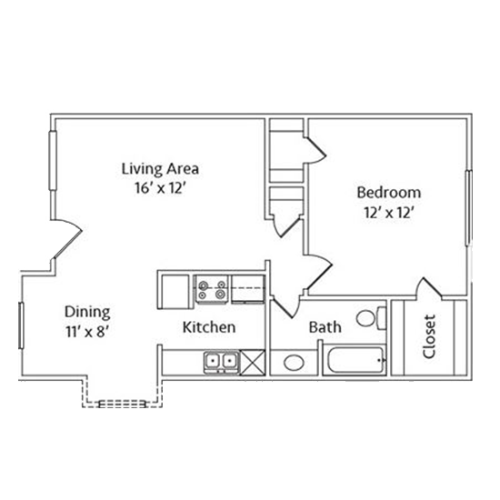 1 Bedroom Apartment in North Richland Hills | 725 SqFt