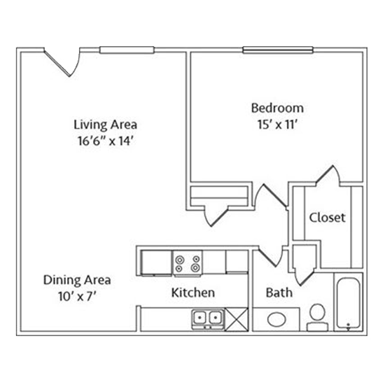 1 Bedroom Apartment in North Richland Hills | 750 SqFt
