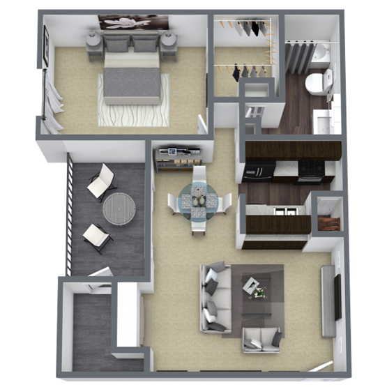 1 bedroom apartment in Lake Highlands, TX | 664 Sq. ft.