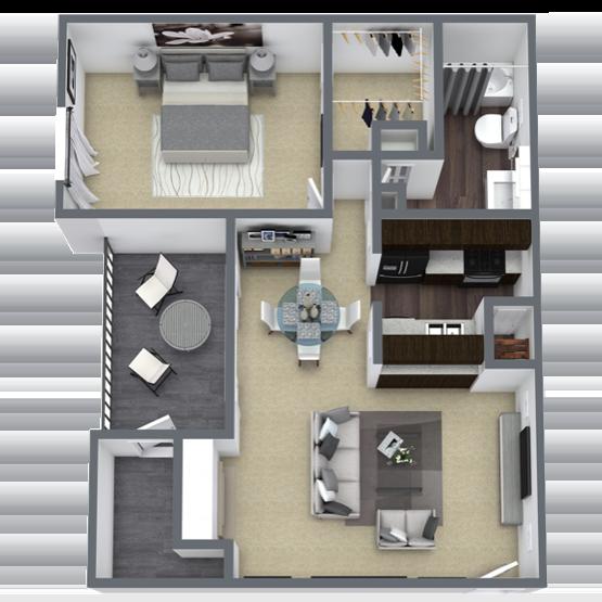 https://apartmentnetwork.org/seo/files/floorplans/1 bedroom apartment in Lake Highlands, TX | 664 Sq. ft.
