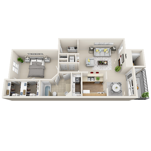 One bedroom apartment Irving (A4 - 820 Sq. ft.)