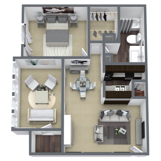 https://apartmentnetwork.org/seo/files/floorplans/1 bedroom apartment in Lake Highlands, TX | 839 Sq. ft.