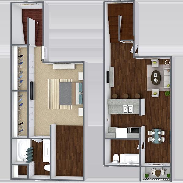 Rent 1 Bedroom Apartment in Dallas Texas | 775 Sq. Ft.