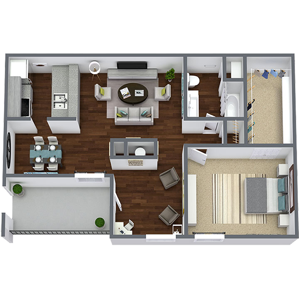 Rent 1 Bedroom Apartment in Dallas Texas | 780 Sq. Ft.