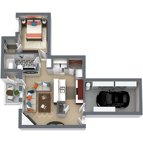 https://apartmentnetwork.org/seo/files/floorplans/One bedroom apartment with private garage in Fort Worth | The Abberly