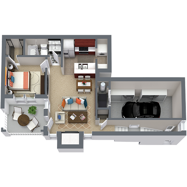 https://apartmentnetwork.org/seo/files/floorplans/One bedroom apartment with private garage in Fort Worth | The Asbury