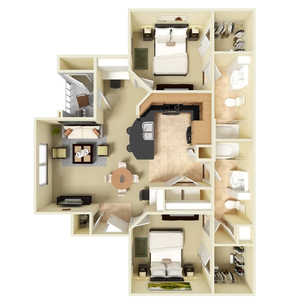 Two Bedroom Apartment - 922 Sq. Ft.
