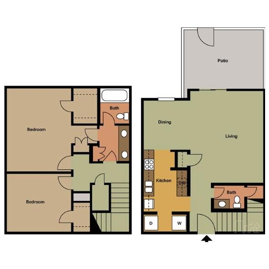 2 Bedroom apartment for rent in Bedford, TX | 1,129 sqft