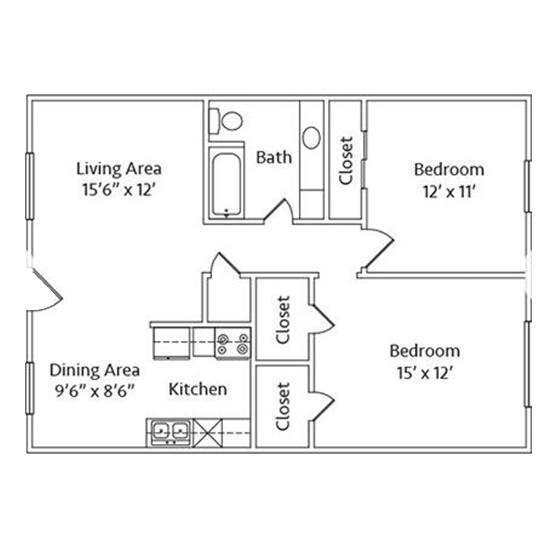 2 Bedroom Apartment in North Richland Hills | 936 SqFt