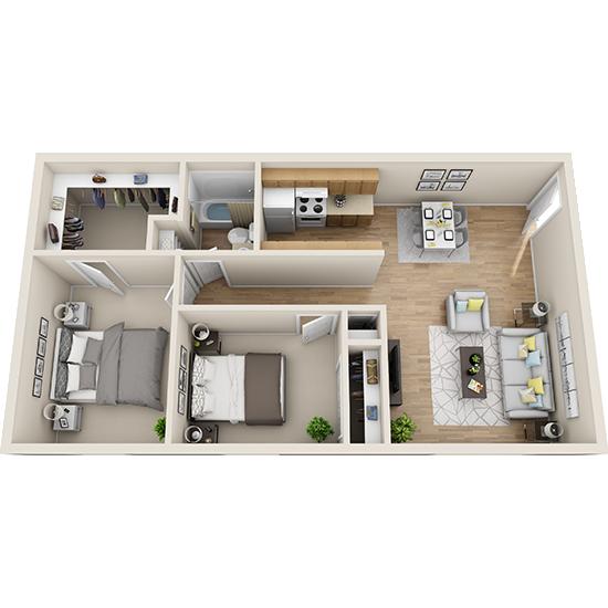 2 Bedroom apartment for rent in Amarillo, TX | 860 sqft