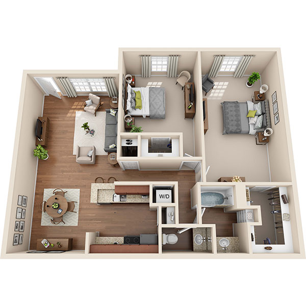 Two Bedroom Apartment in Seabrook, TX | 984 Sq. Ft.