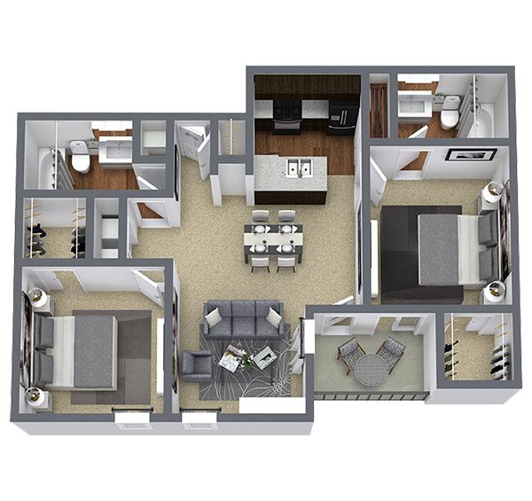 2 bedroom apartment for rent in Dallas, TX