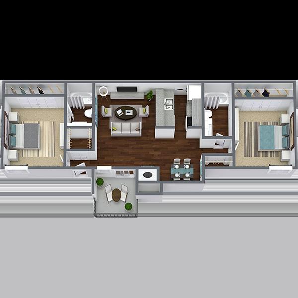 Rent 2 Bedroom Apartment in Dallas Texas | 910 Sq. Ft.