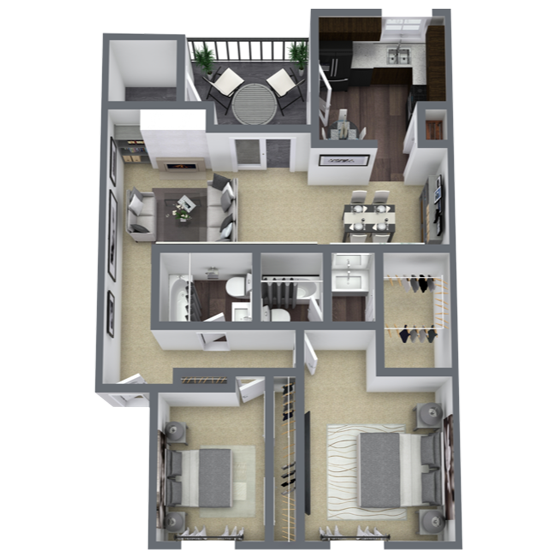 2 bedroom apartment in Lake Highlands, TX | 997 Sq. ft.
