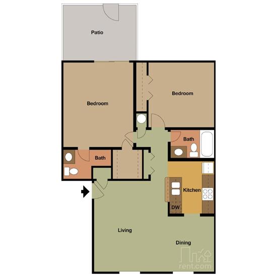 2 Bedroom apartment for rent in Bedford, TX | 981 sqft