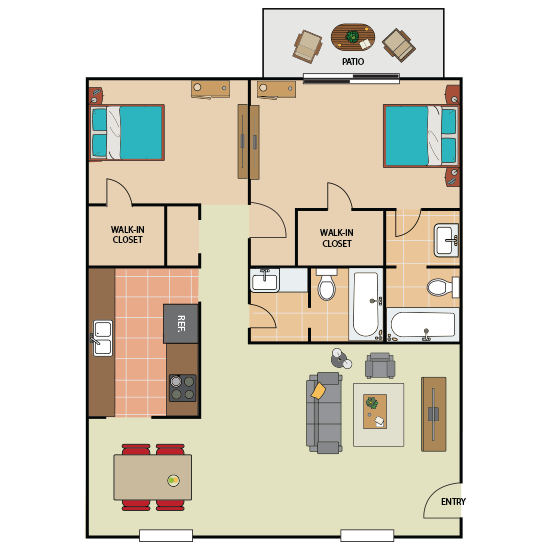 2 Bedroom Apartment in Southwest Forth Worth | 980 sqft