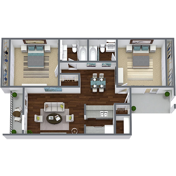 Rent 2 Bedroom Apartment in Dallas Texas | 915 Sq. Ft.