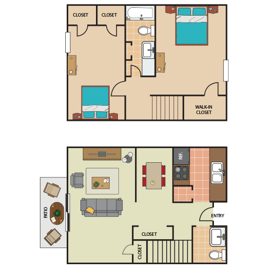 2 Bedroom Apartment in Southwest Forth Worth | 1,198 sqft