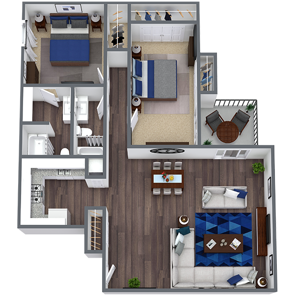 2 bedroom apartments in Irving | 1,212 Sq. Ft.