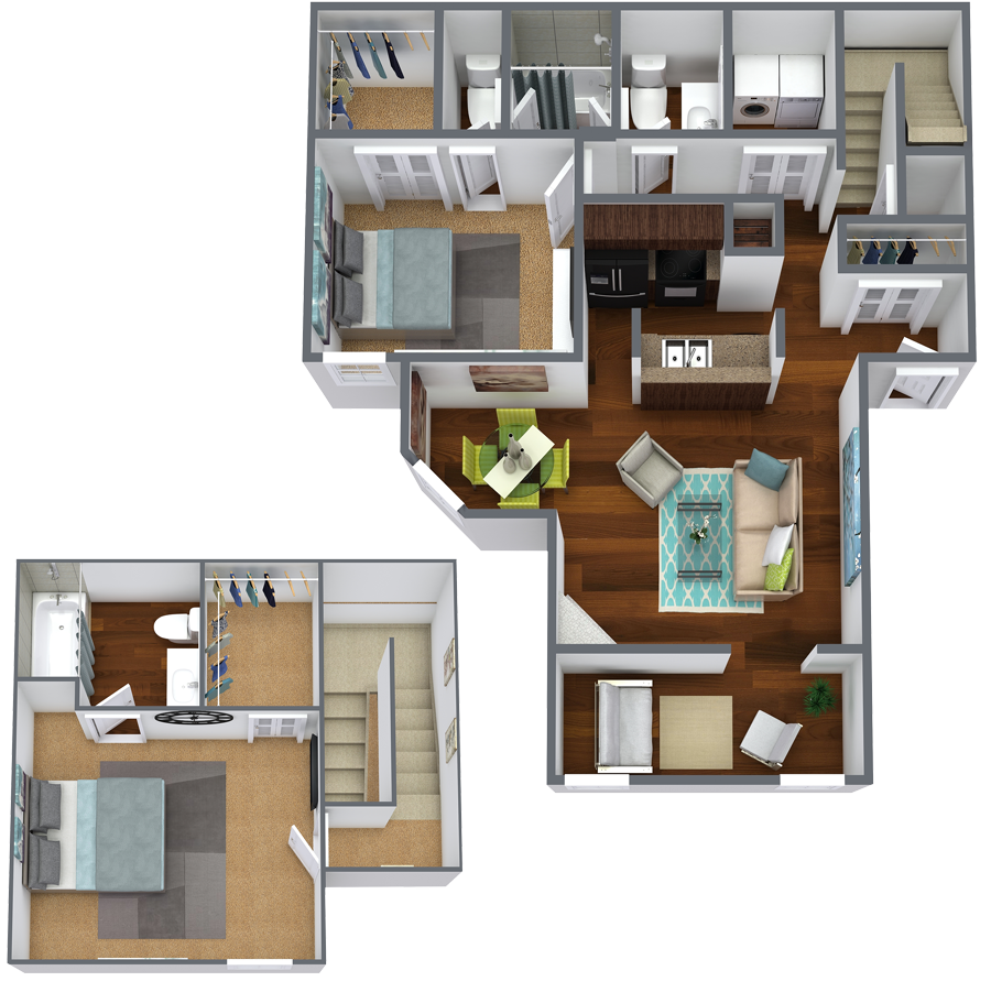 https://apartmentnetwork.org/seo/files/floorplans/Two bedroom apartment with three bathrooms in Fort Worth