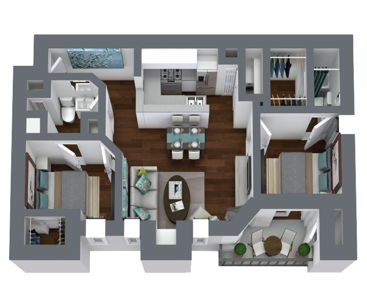 2 bedroom, 2 bathroom apartment for rent in Lewisville