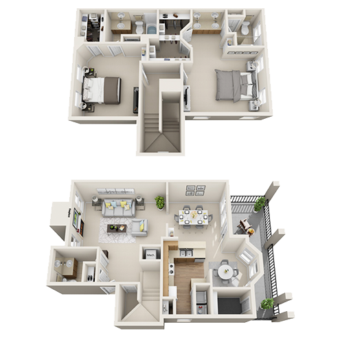 Two bedroom apartment Irving (B4 - 1,635 Sq. ft.)