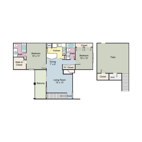 B4 - 2 br/2ba - 1059 sq.ft. apartment for rent