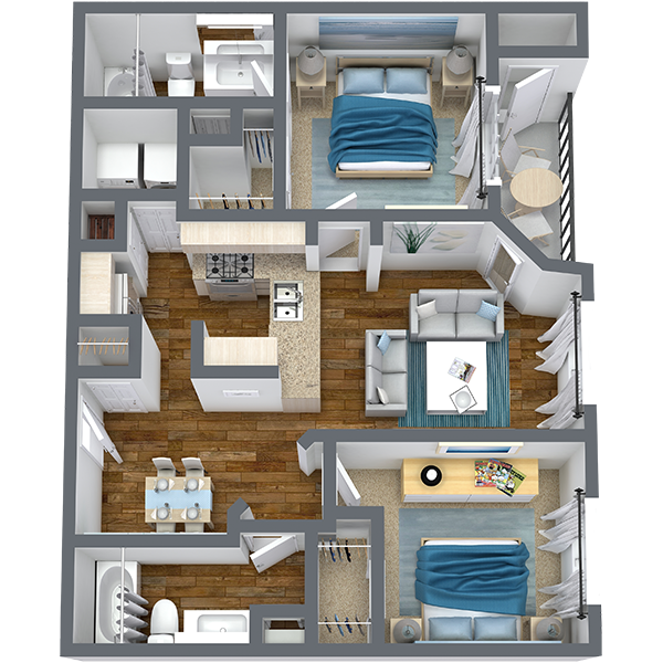 https://apartmentnetwork.org/seo/files/floorplans/2 Bedroom for Rent in Haltom City, TX | 1,003 Sq Ft