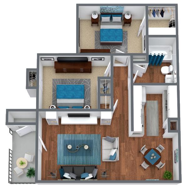 2 Bedroom Apartment in Houston, TX |  867 sqft