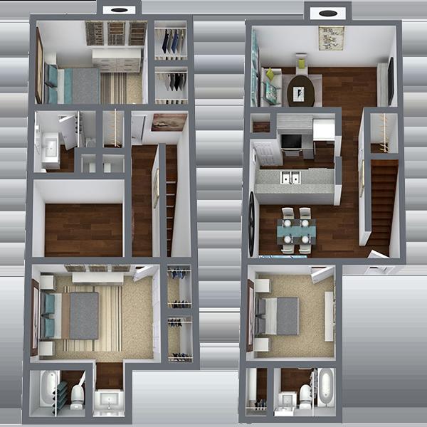 Rent 3 Bedroom Apartment in Dallas Texas | 1,450 Sq. Ft.