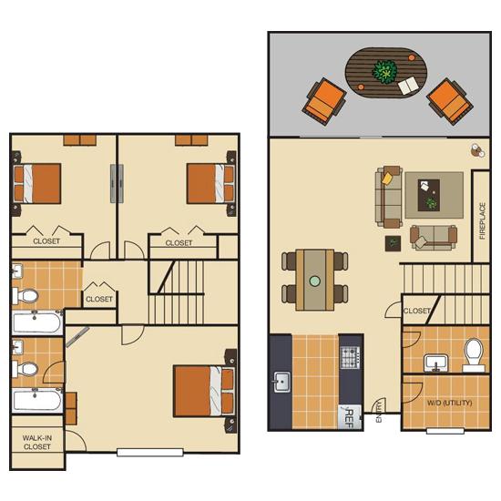 3 Bedroom apartment for rent in Bedford, TX | 1398 sqft