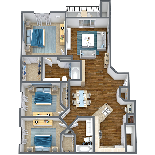 https://apartmentnetwork.org/seo/files/floorplans/3 Bedroom apartment for Rent in Haltom City, TX