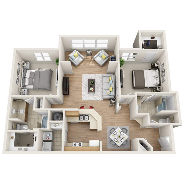 One bedroom apartment in Lewisville (1,252 Sq. ft.)