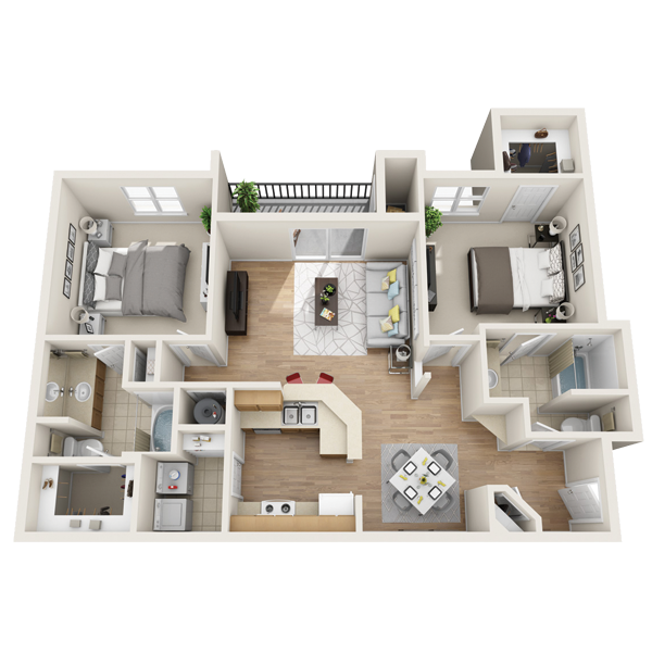 Two bedroom apartment in Lewisville (1,139 Sq. ft.)