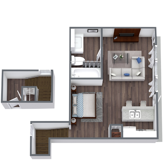 Studio Apartment in Fort Worth, TX