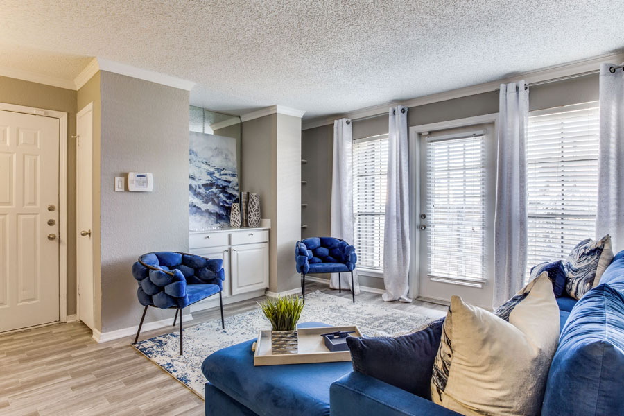 One and Two Bedroom Floor Plan Styles