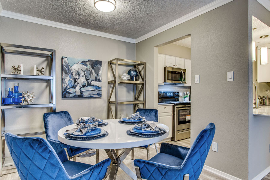 Spacious Dining Room opens to Kitchen and Living Room Area!