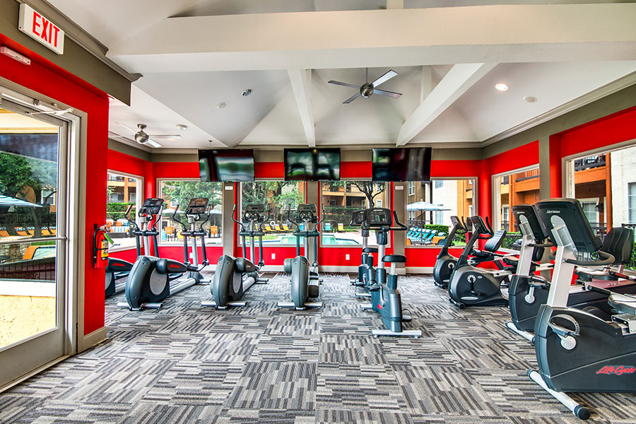 Work out in our fitness center, Estates at Las Colinas!