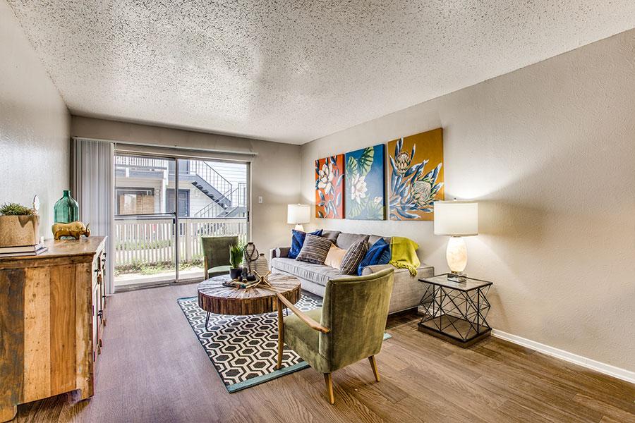Faux Wood Flooring in Dallas, Texas Apartment at Lexington