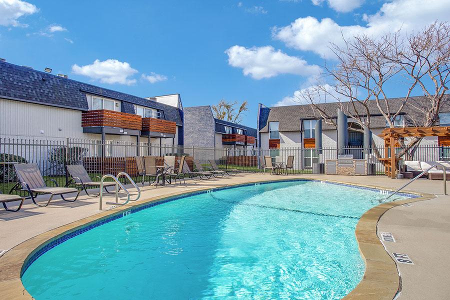 Two sparkling, resort-style resort pools