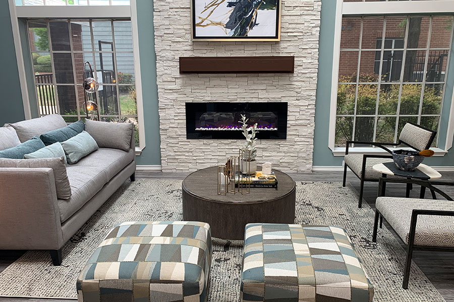 Resident Lounge with Fireplace!
