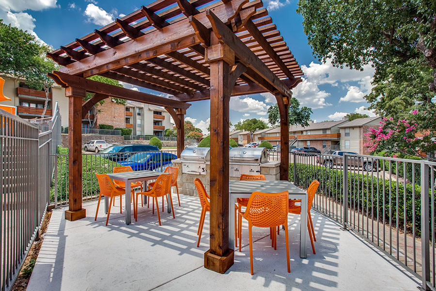 Pergola with Picnic Area and Outdoor Kitchen